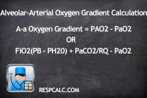 Alveolar Arterial Oxygen Gradient