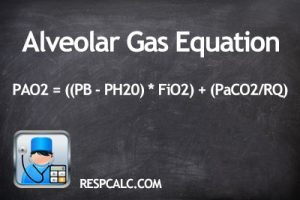 Alveolar Gas Equation