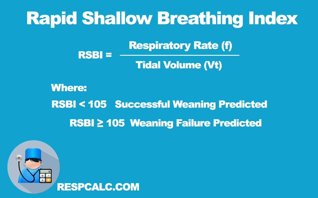 Calculate Rapid Shallow Breathing Index (RSBI)